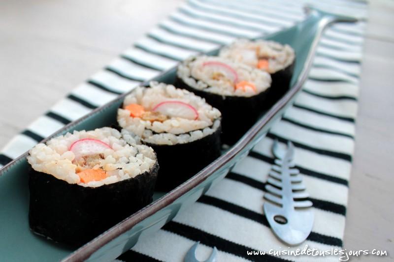 Makis de sardines à l'huile pour Connétable