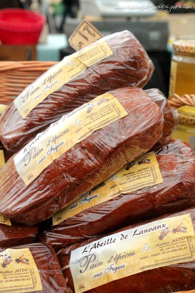 Le pain d'épices aux figues produit par l'Abeille de Lanvaux - Saint-Jean-Brévelay