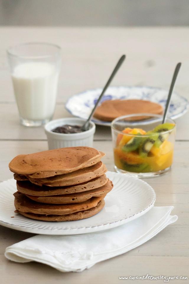 Pancakes à la farine de châtaigne – ©www.cuisinedetouslesjours.com