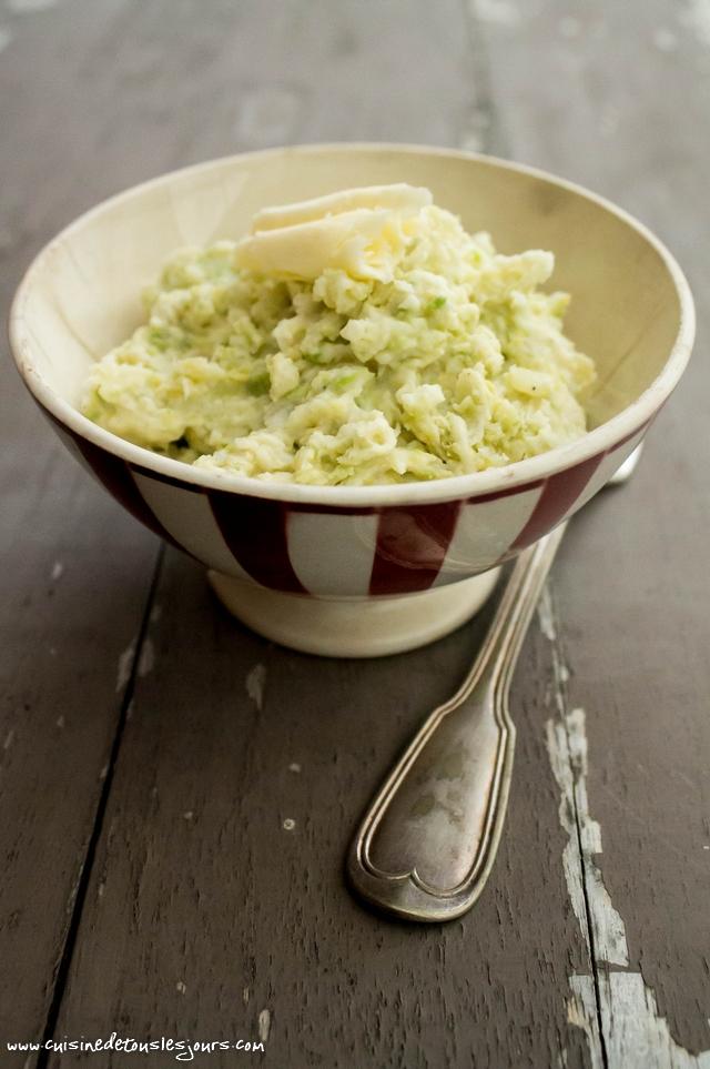 Colcannon ou purée irlandaise au chou - ©www.cuisinedetouslesjours.com
