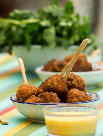 Boulettes d'agneau à la carotte et sauce au cheddar - ©www.cuisinedetouslesjours.com