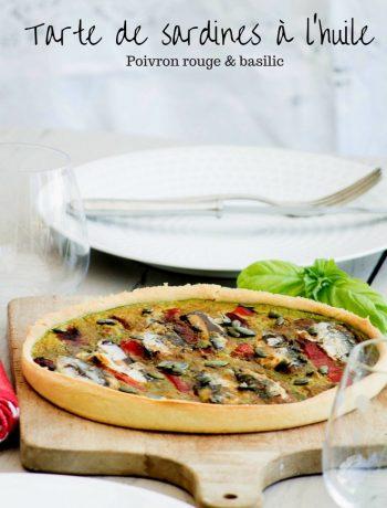 Tarte de sardines à l'huile, poivron rouge et basilic - ©www.cuisinedetouslesjours.com