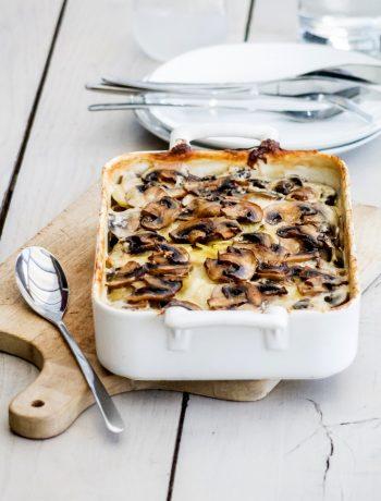 Gratin de pommes de terre et champignons pour la marque LOU - ©www.cuisinedetouslesjours.com