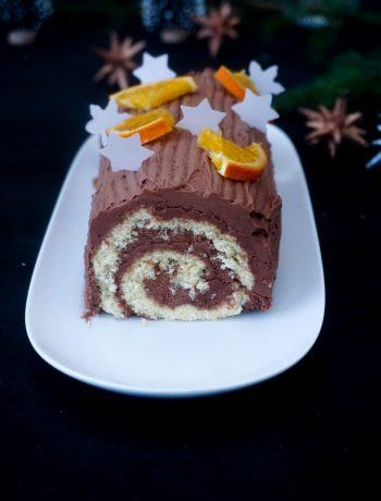 Bûche au chocolat et à l'orange - ©www.cuisinedetouslesjours.com