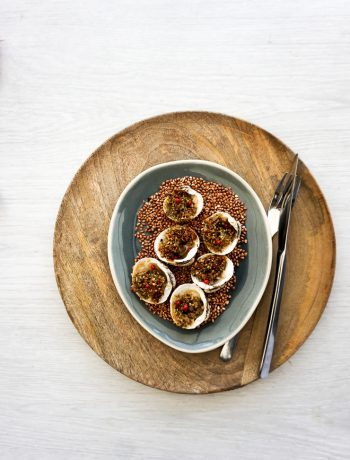 Praires farcies au beurre de sarrasin à la noisette - ©www.cuisinedetouslesjours.com